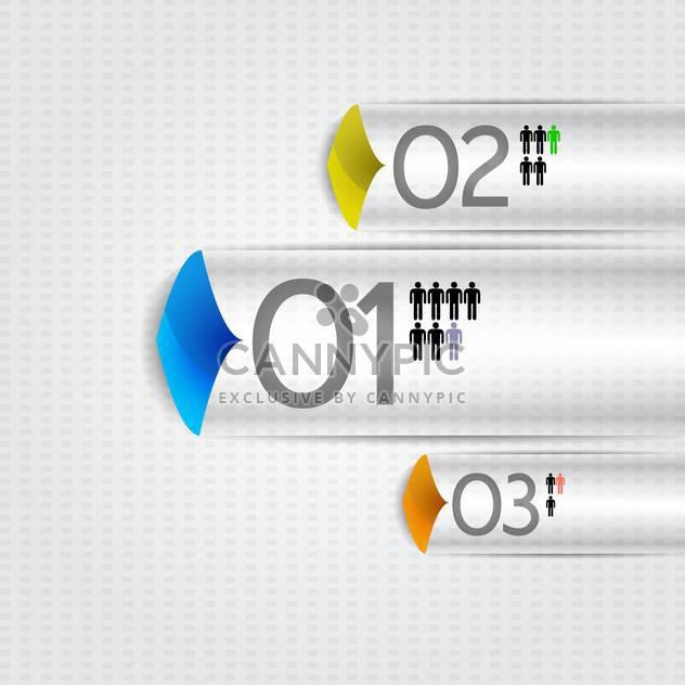 Prozess-Schritte Infographik Vektor-illustration - Kostenloses vector #131899