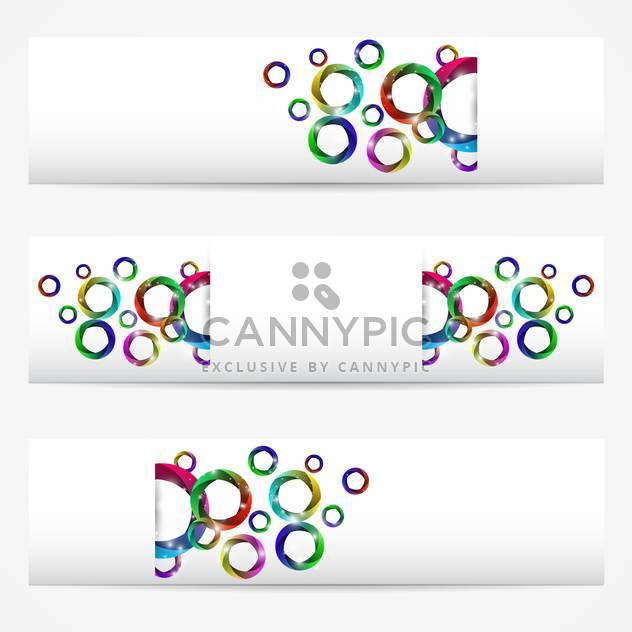 abstract vector background with circles - Free vector #131909