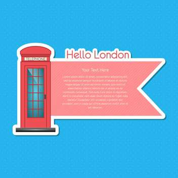 London scrapbook element on blue background - vector gratuit #131929