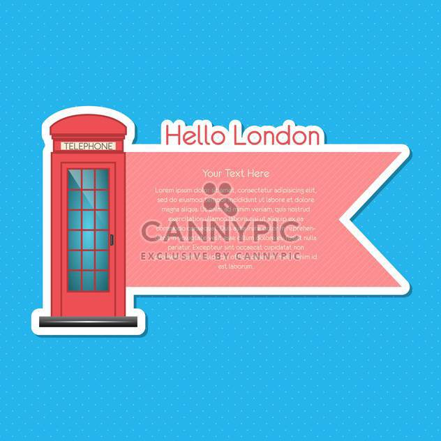 London scrapbook element on blue background - Free vector #131929
