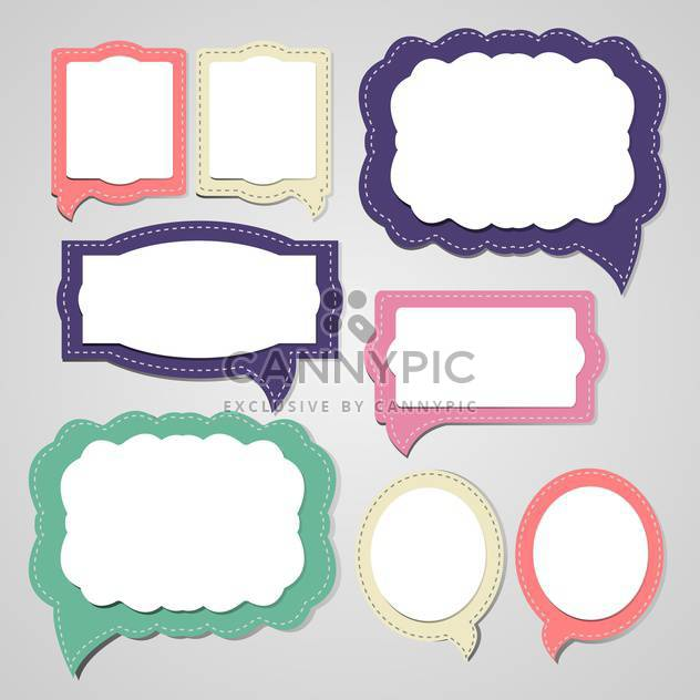 Vector set of speech and thought bubbles - Free vector #132119