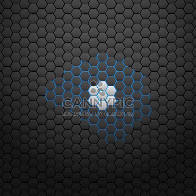 Abstract black background for design,vector illustration - Free vector #132259