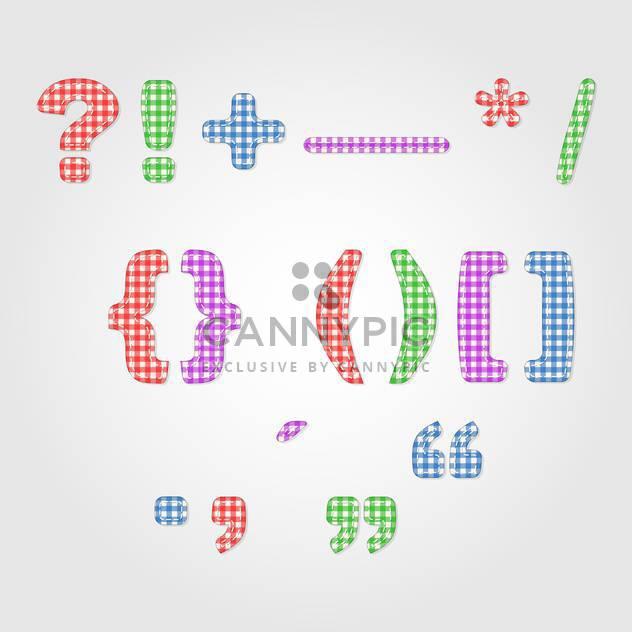 alten altmodischen bunte Satzzeichen, Vektor-illustration - Free vector #132349