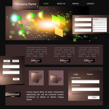 Web site design template, vector illustration - vector gratuit #132449