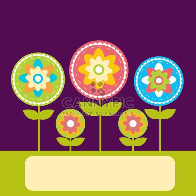 Vektor floral Background mit Platz für text - Free vector #132479
