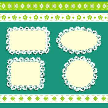 vector floral frames background - vector gratuit #132499
