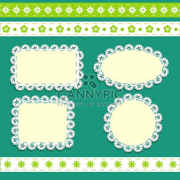 vector floral frames background - Free vector #132499