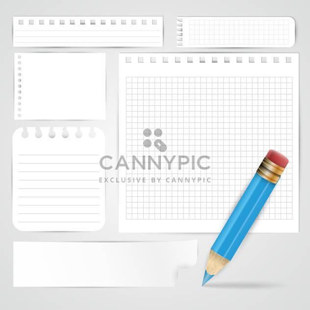 Bleistift und Papier-Blätter-Hintergrund - Kostenloses vector #132589