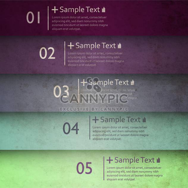 business option numeric banners - Free vector #132719