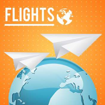 vector earth and paper planes - vector gratuit #132749