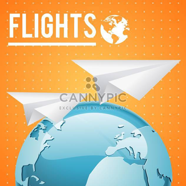 vector earth and paper planes - Free vector #132749