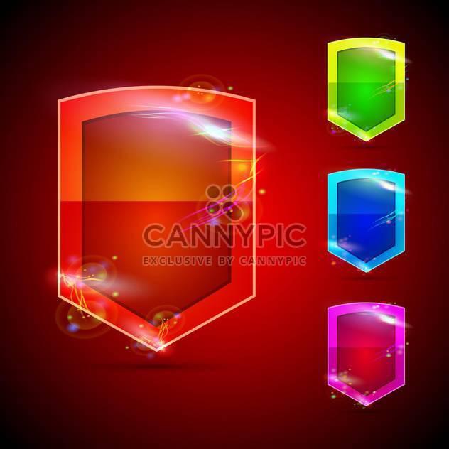 Vektor-glänzende Tasten-Satz - Free vector #132799