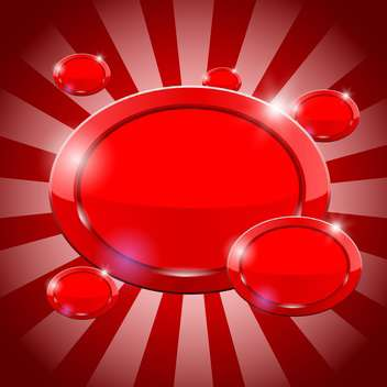 oval red buttons vector background - vector gratuit #132809