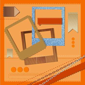 different vector photo frames and ribbons - Free vector #132829