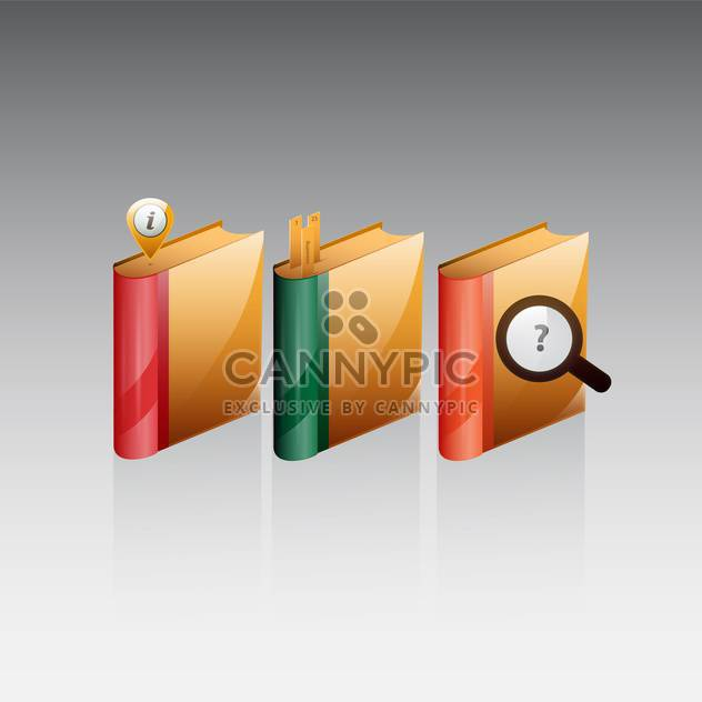 vector books icons set - Free vector #132889