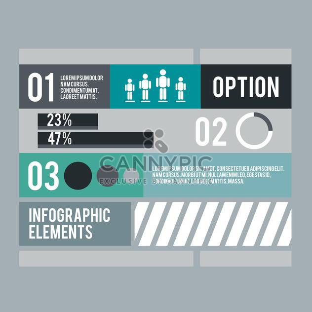 business infographic elements set - Free vector #133009