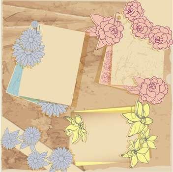 vector vintage floral frames set - Free vector #133029