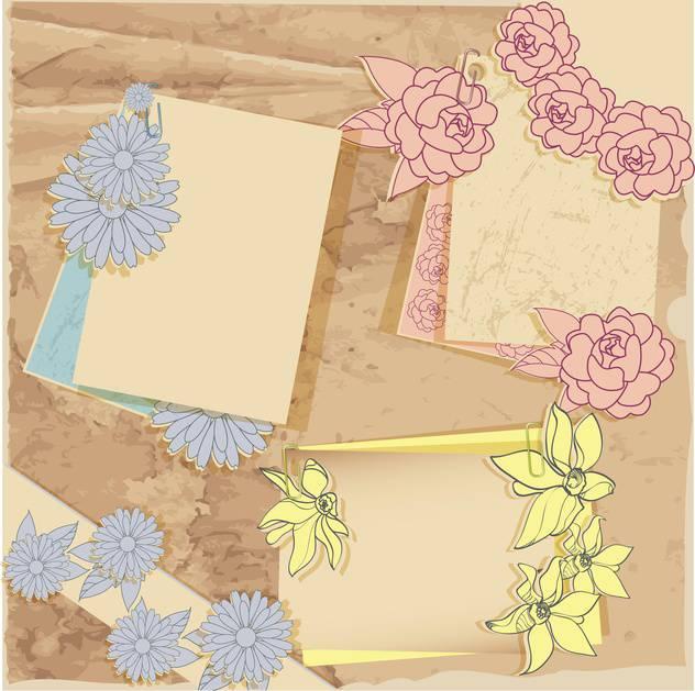 vector vintage floral frames set - vector gratuit #133029