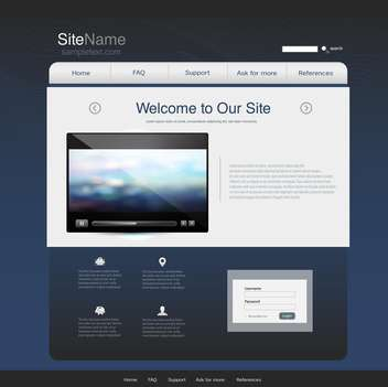 website design template background - Free vector #133109