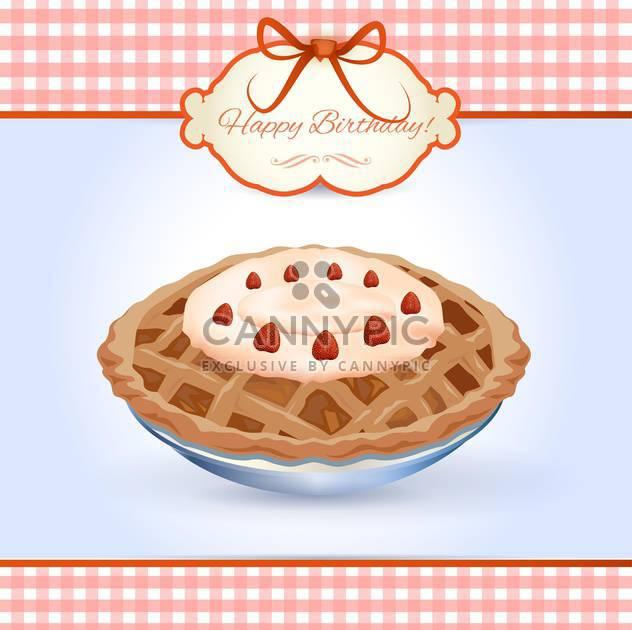 birthday cake vector illustration - Free vector #133129