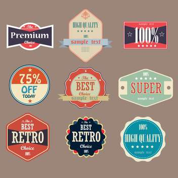 collection of vintage high quality labels - vector #133149 gratis