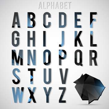 vector alphabet letters set - Free vector #133159