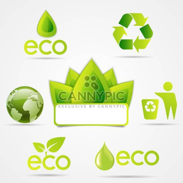 eco symbols icons set - Free vector #133169