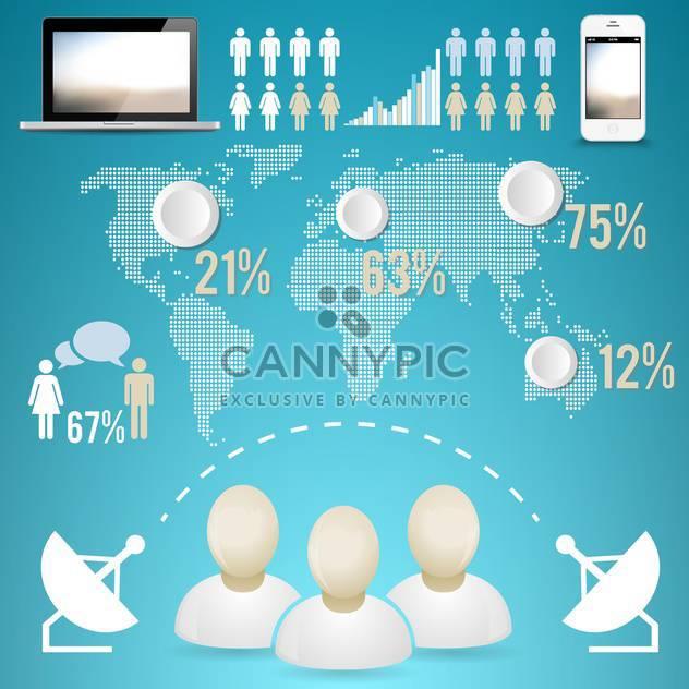 Geschäft Infographik Elemente festlegen - Kostenloses vector #133179