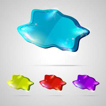vector abstract glossy buttons - Free vector #133199