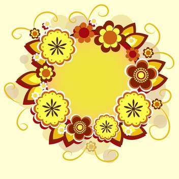 vector floral summer background - Free vector #133219