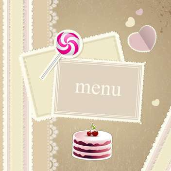 restaurant menu design background - vector #133239 gratis