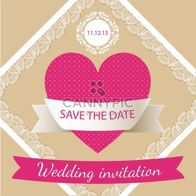 Hochzeit Einladung Karte Hintergrund - Kostenloses vector #133279