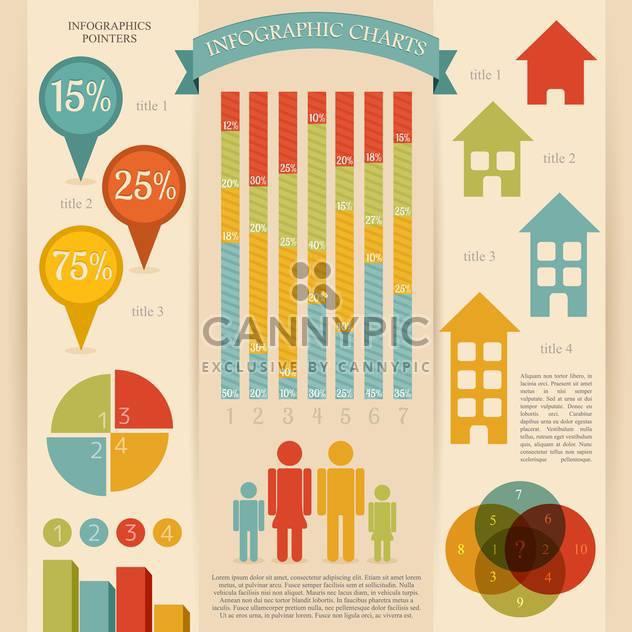 retro infographics vector set - Free vector #133309