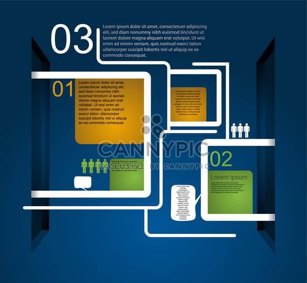 business retro infographics set - Free vector #133329