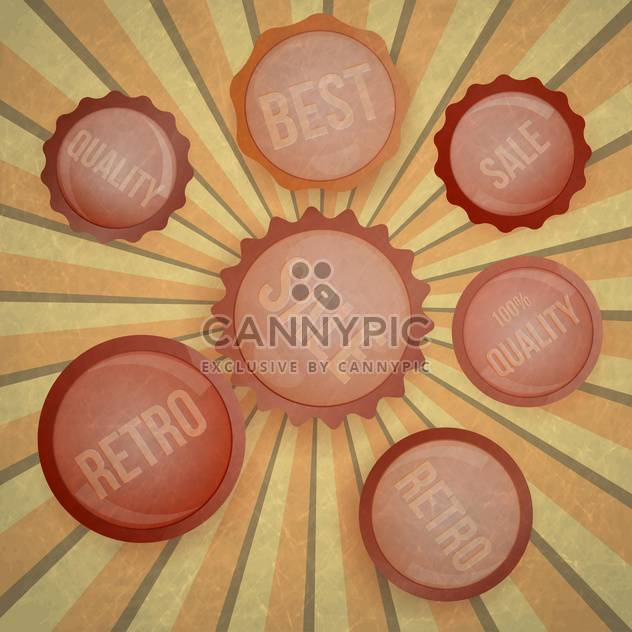 vintage badges and labels background - Free vector #133349