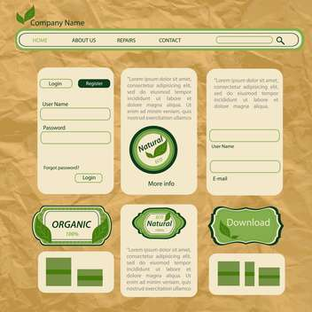 eco style vector web templates - vector gratuit #133429