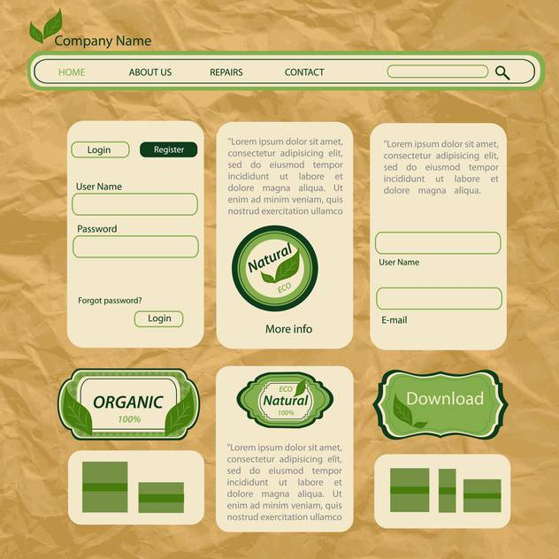 eco style vector web templates - vector #133429 gratis