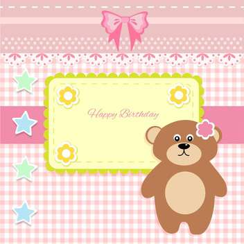 cute vector background with teddy bear - vector gratuit #133449