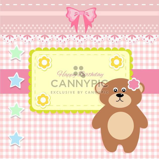 cute vector background with teddy bear - Free vector #133449