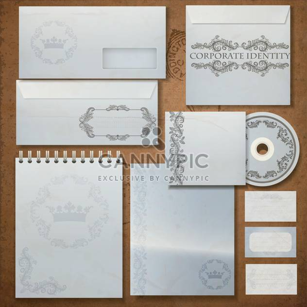 Vintage corporate identity set - Free vector #133469