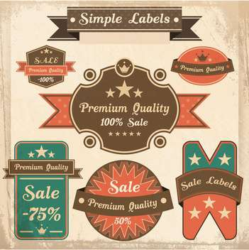 vector set of retro labels - бесплатный vector #133499
