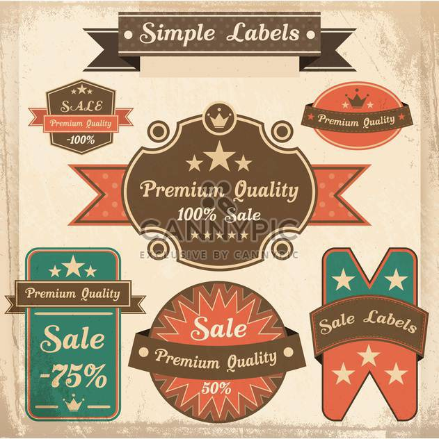 vector set of retro labels - Free vector #133499