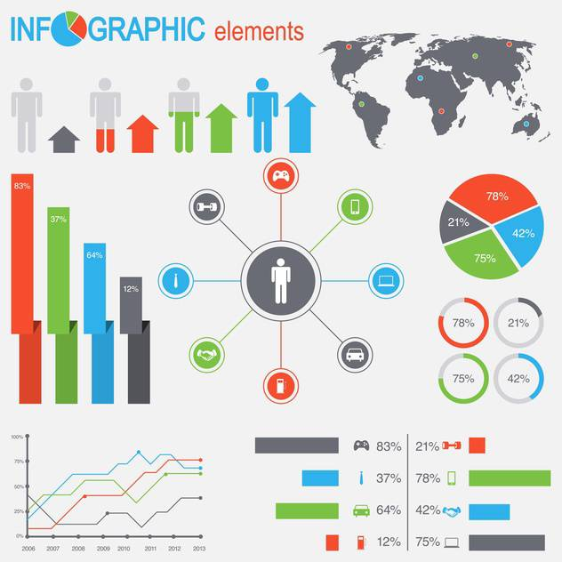 set of business infographic elements - vector #133539 gratis