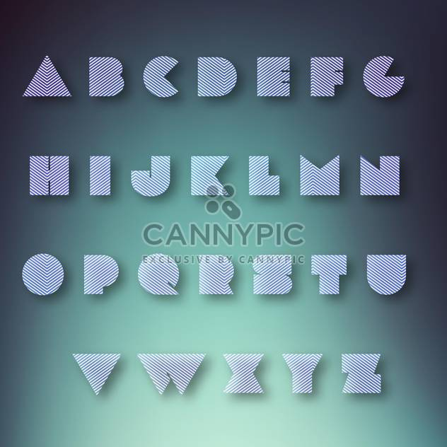 alphabet vector letters set background - Free vector #133549
