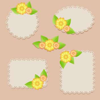 set of vector floral frames - Free vector #133619