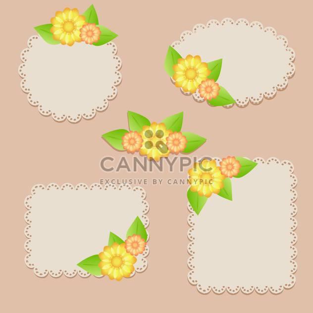 Satz von Vektorrahmen floral - Free vector #133619