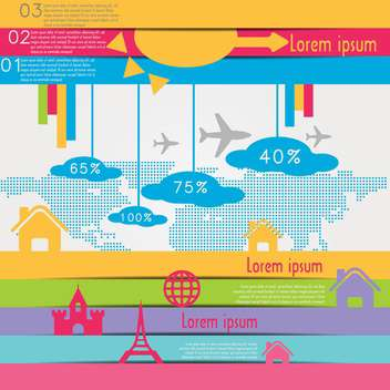 travel infographics with data icons and elements - vector #133669 gratis