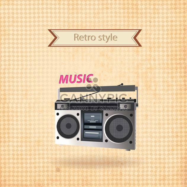 vector retro recorder background - Free vector #133719