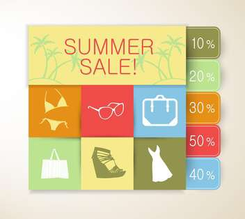 summer sale and shopping background - бесплатный vector #133729