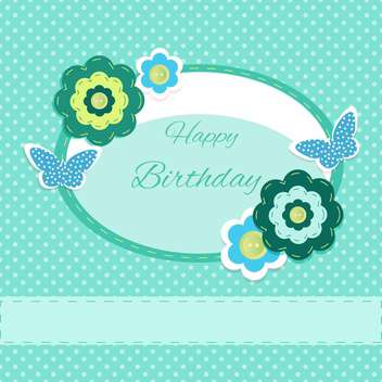 happy birthday card invitation background - vector gratuit #133799